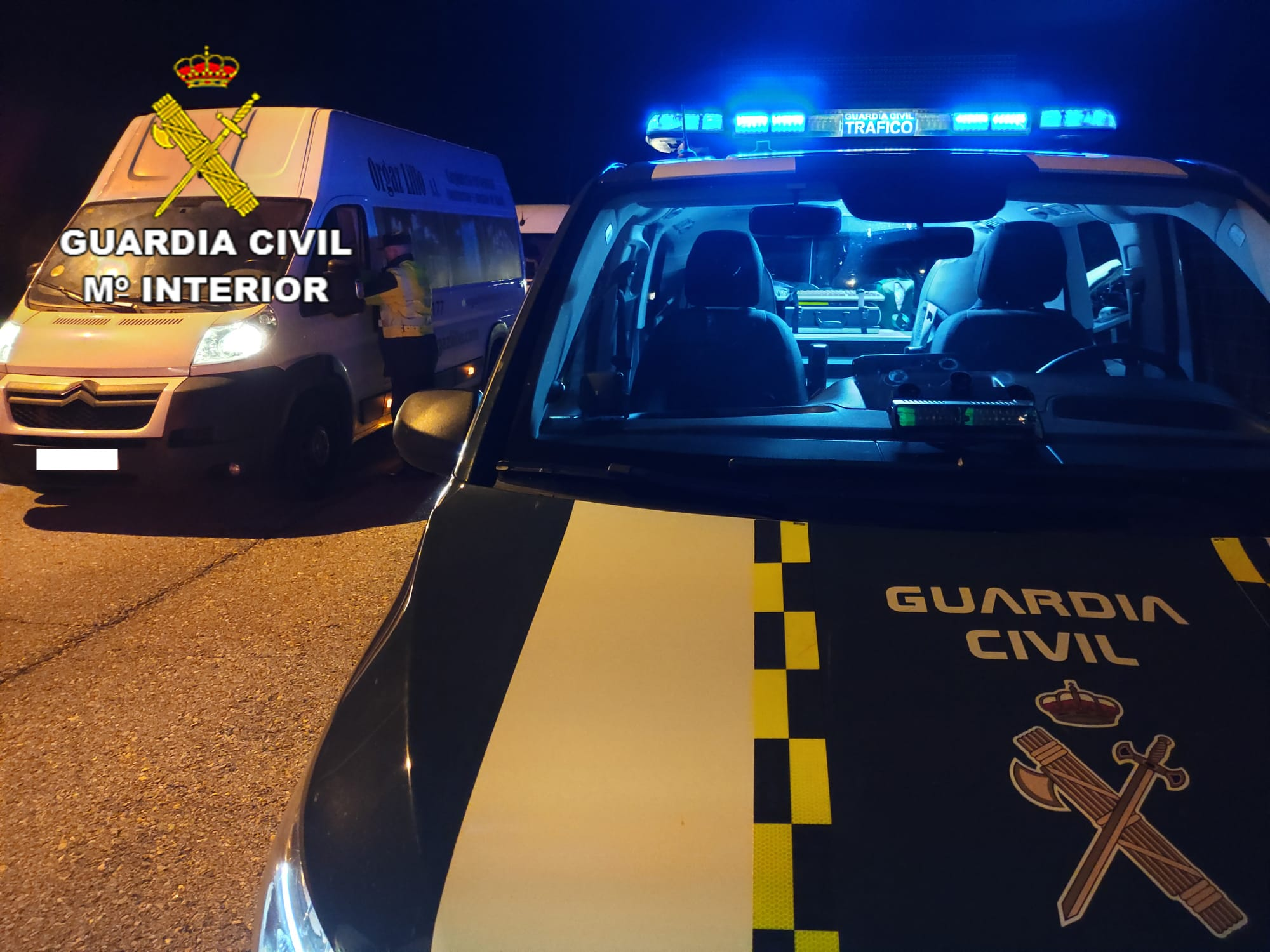 Control de la Guardia Civil de Tráfico.